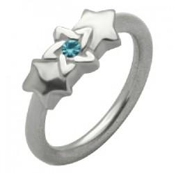 Piercing anneau 1,6mm 55 - étoile de David