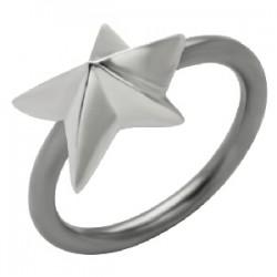 Piercing anneau 1,6mm 57 - étoile