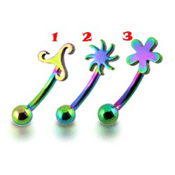 Piercing arcade 08 - Motifs rainbow