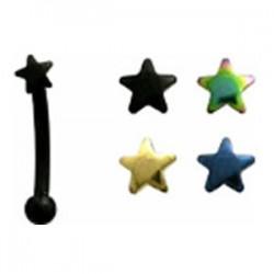 Piercing arcade 61 - PVD étoile