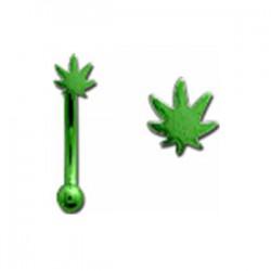 Piercing arcade 62 - PVD cannabis