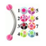 Piercing pour arcade acry 26 - UV étoile ball