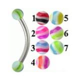 Piercing pour arcade acry 34 - UV boules striées
