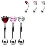 Piercing arcade 69 - Cristal coeur