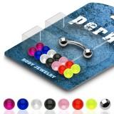 Pack de piercings arcades 05 - Boules UV unicolores