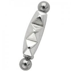 Piercing micro-barbell 33 - Trois carrés