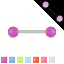 Piercing micro-barbell 27 - Fluorescent boules