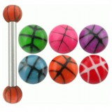 Piercing micro-barbell 17 - UV basket boules