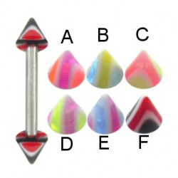 Piercing micro-barbell 21 - UV pointes striées