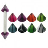 Piercing micro-barbell 23 - UV basket pointes