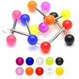 Piercing micro-barbell UV unicolore boules titane G23