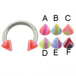 Piercing micro-circulaire 27 - UV pointes striées