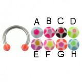 Piercing micro-circulaire 24 - UV étoile boules