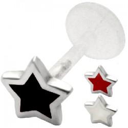 Piercing labret 75 - PTFE étoile