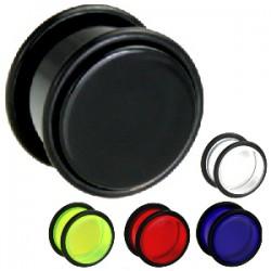 Plug acrylique unicolore Oring