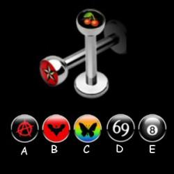 Piercing labret logo série D