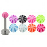 Piercing micro-labret acry 04 - UV beach-ball