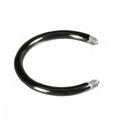 Barre circulaire 1.2mm PVD noir