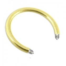 Barre circulaire 1.2mm plaqué-or