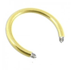 Barre circulaire 1.6mm plaqué-or