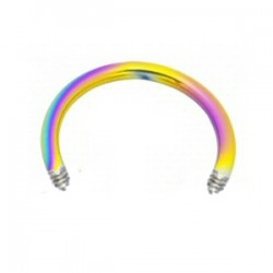 Barre circulaire 1.6mm PVD rainbow