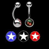 Piercing nombrils logos série étoiles