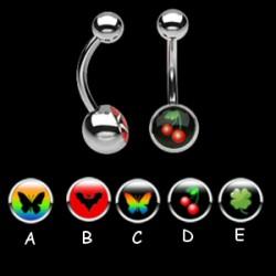 Piercing nombrils logos série B