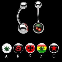 Piercing nombrils logos série A