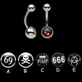 Piercing nombrils logos série F
