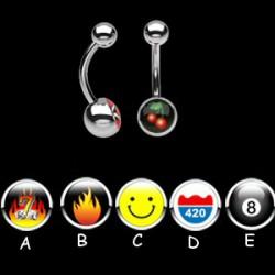 Piercing nombrils logos série E