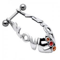 Piercing hélix 33 - Bouclier love