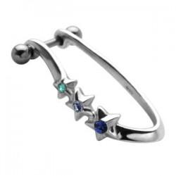 Piercing hélix 52 - Trois étoiles