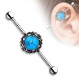 Piercing industriel 47 - Turquoise