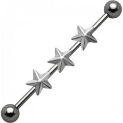 Piercing industriel 46 - Trois étoiles