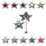 Piercing stud de nez 0.5mm 20 - étoile