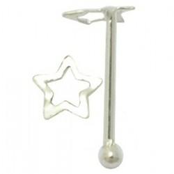 Piercing stud de nez 0.5mm 30 - étoile creuse