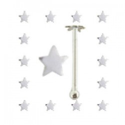 Piercing stud de nez 0.5mm 31 - étoile simple