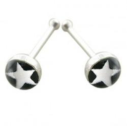 Piercing stud de nez 0.5mm 32 - Logo étoile
