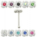 Piercing stud de nez 0.5mm 35 - Twist flower
