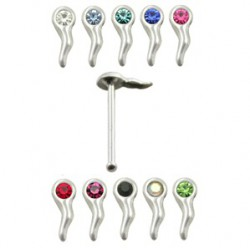Piercing stud de nez 0.5mm 44 - Spermato