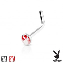 Piercing nez courbé 0.8mm 33 - Logo playboy