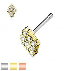 Piercing nez droit 0,8mm 79 - Losange multistrass