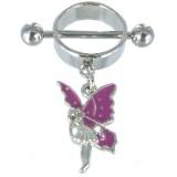 Piercing téton fée 1 - Ailes lilas