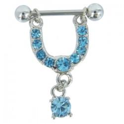 Piercing téton strass pendant bleu-clair (26)