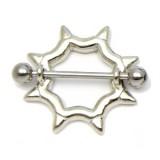 Piercing téton cercle avec pointes (40)