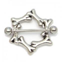 Piercing téton cercle en os (36)