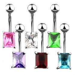 Piercing nombril cristal 07 - Rectangle