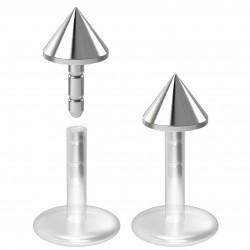 Piercing micro-labret 48 - PTFE pointe