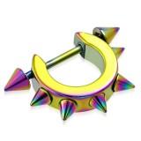 Bouclier de téton 07 - Rainbow large cerle avec pointes