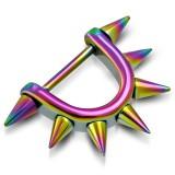 Bouclier de téton 08 - Rainbow pointes sur bouclier et tige